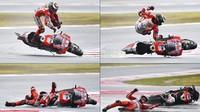 Rekor di MotoGP San Marino: 141 Crash