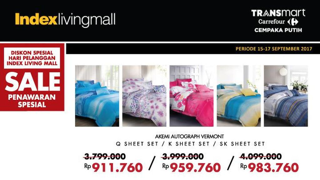 Diskon Spesial Hari Pelanggan di Index Living Mall