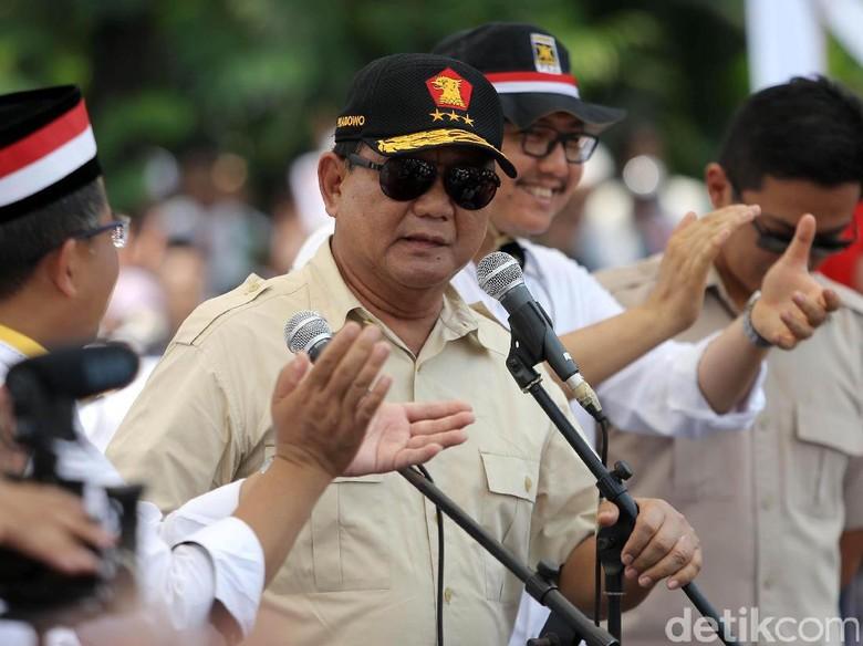 Prabowo: Kalau Dibilang Saya Ambisi Jadi Presiden, Kenapa Tidak