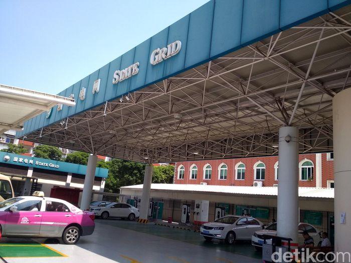 Salah satu lokasi Stasiun Penyedia Listrik Umum (SPLU) terletak di Distrik Huli, Xiamen.