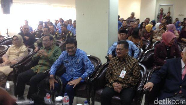 Gubernur DKI Jakarta Djarot Saiful Hidayat saat peringatan HUT ketiga RS Adhyaksa