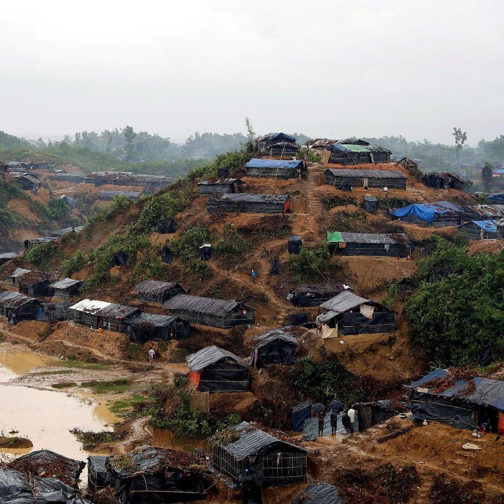 Melihat dari Langit Kamp Kutapalong, Perbukitan Tempat Rohingya Berlindung