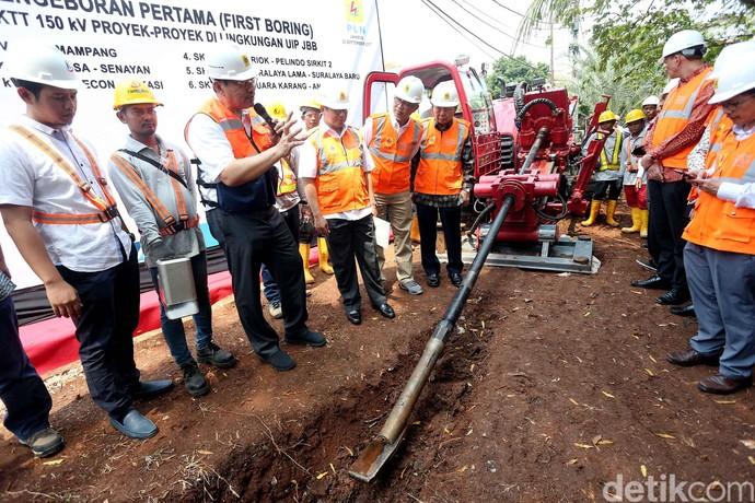 Pengeboran Perdana SKTT 150KV di DKI Jakarta