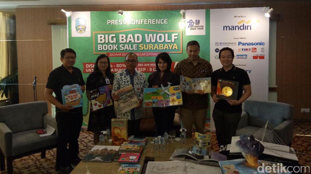 Big Bad Wolf Fair Hadir di Surabaya di HUT Jawa Timur ke-72