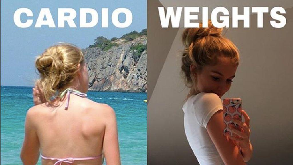 Latihan Beban Bikin Perempuan Jadi Kekar? Foto Ini Jawabannya