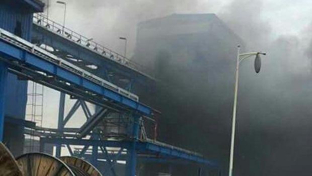 Belt Conveyor PLTU Jeneponto Sulsel Terbakar