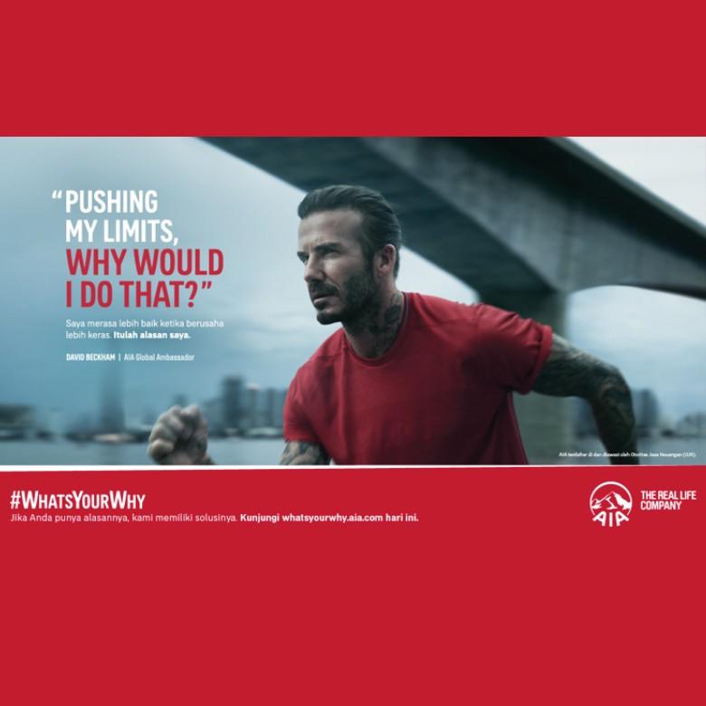 Gandeng David Beckham, AIA Luncurkan Kampanye #WhatsYourWhy