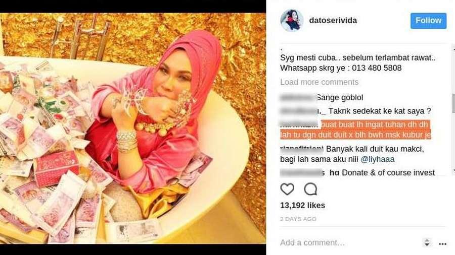 Sosialita Malaysia Mandi Uang di Bathtub Dihujat: Duit Tak Dibawa ke Kuburan