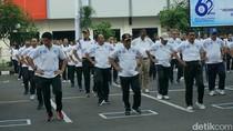 Peringati HUT Ke-62 Lantas, Kapolri Awali dengan Senam Bersama