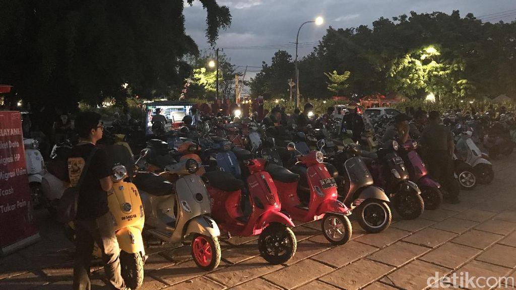 Ratusan Penggemar Modern Vespa Ikut Jamnas Move Indonesia ke-6 di Makassar