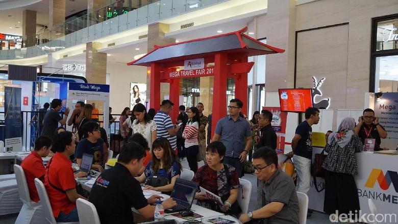 Foto: Mega Travel Fair 2017 di Hartono Mall, Yogyakarta (Masaul/detikTravel)