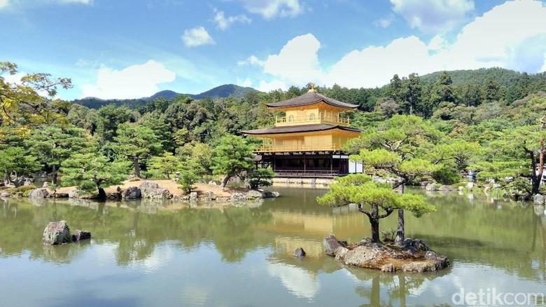 Kuil emas, Rokounji Temple di Kyoto, Jepang (Hans/detikTravel)