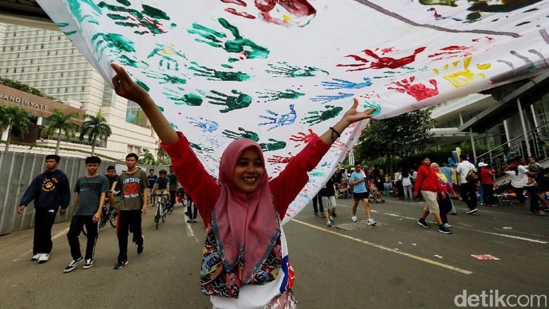 Cap Telapak Tangan untuk Solidaritas Rohingya di CFD