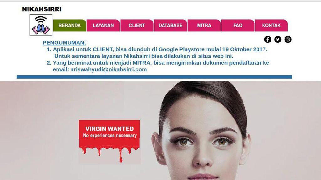 Kominfo Resmi Blokir Situs Lelang Perawan nikahsirri.com