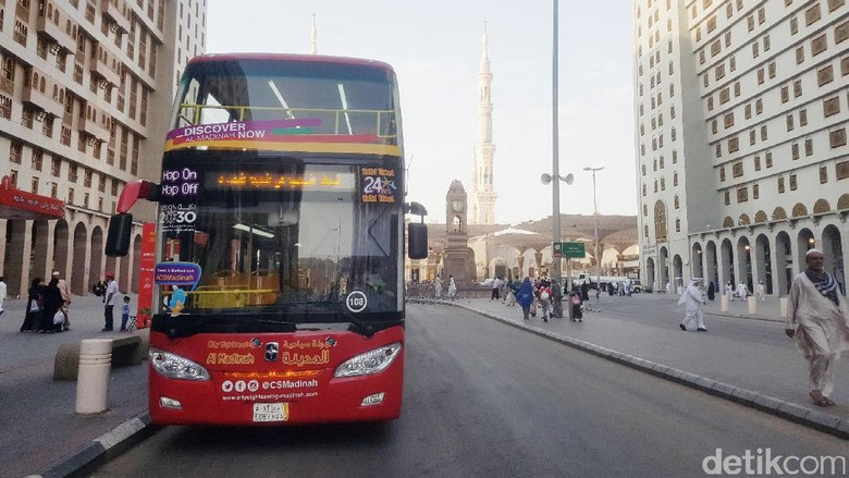 Bus City Tour di Madinah (Triono/detikTravel)