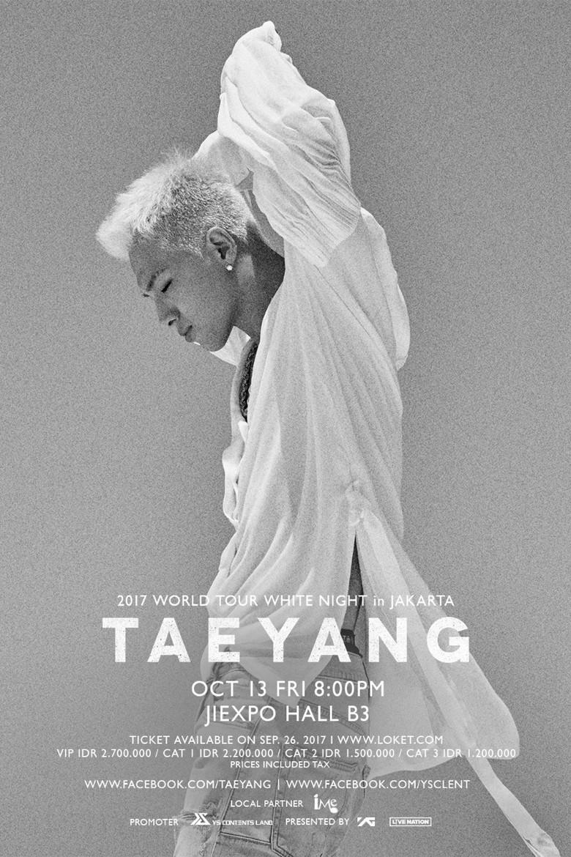 Siap-siap! Taeyang Manggung di Jakarta Malam Ini