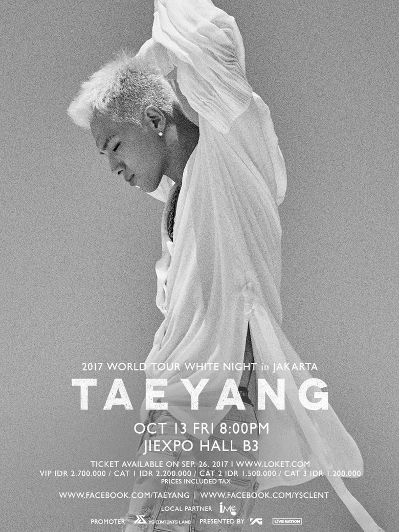 Taeyang BIGBANG Siap Sapa VIP Indonesia 13 Oktober!