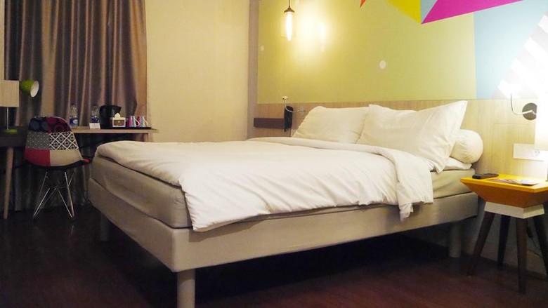 Salah satu kamar di ibis Styles Jakarta Sunter (Kurnia/detikTravel)
