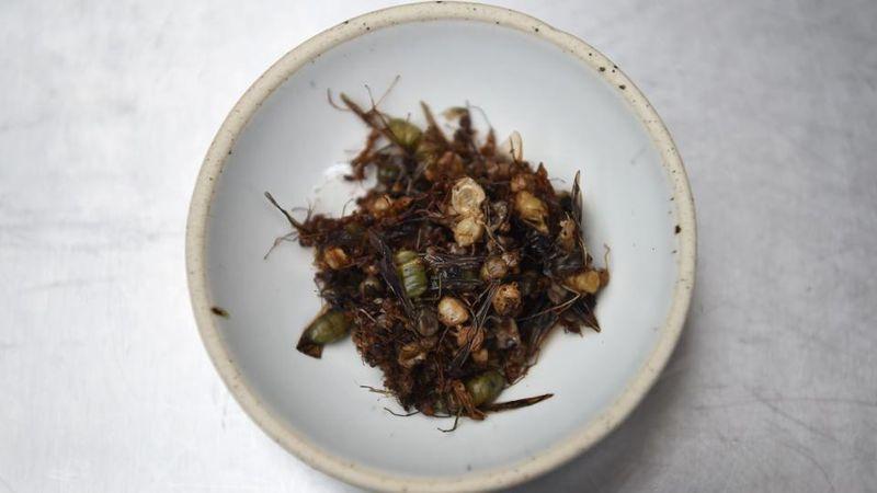 Serangga dahulunya dipandang sebagai makanan untuk kelas rendah. Sekarang tidak lagi, lambat laun restoran berkelas di Thailand juga menambahkan serangga ke dalam makanannya (AFP)