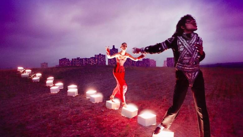 Foto: Salah satu karya seni bertema Michael Jackson karya David LaChapelle (National Potrait Gallery)