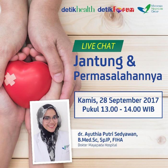 Live chat jantung dan permasalahannya/Foto: detikcom