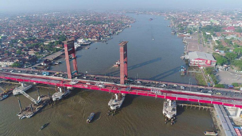 LRT Tersambung ke Jembatan Ampera, Ini Tanggapan Masyarakat