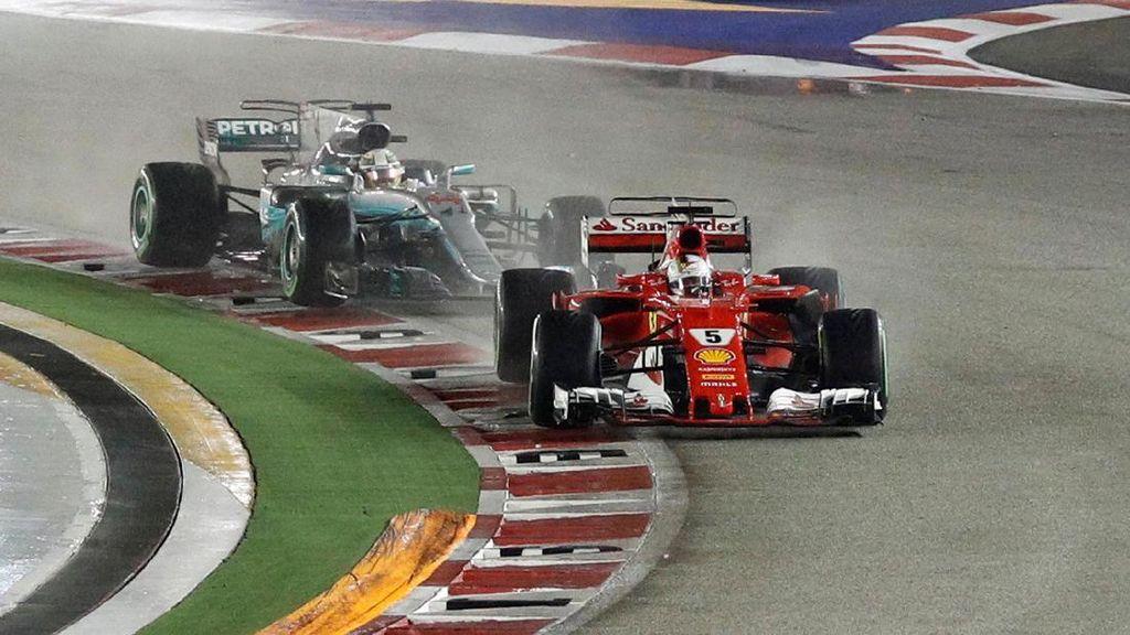Balapan di Sepang, Hamilton Makin Menjauhi Vettel?