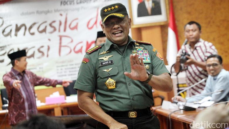 Ditanya Pilpres 2019, Jenderal Gatot: Saya Sekarang Panglima TNI