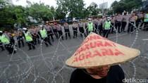 Potret Aksi Hari Tani di Depan Istana Negara