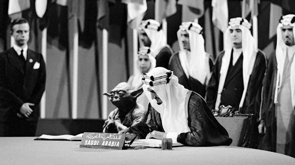 Foto Raja Saudi Bareng Yoda Bikin Heboh, Pejabat Pendidikan Dipecat