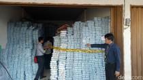 23 Ton Garam Ilegal Diamankan di Palembang