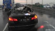 Tabrakan Truk dan BMW di Tol Ancol, 2 Orang Terluka
