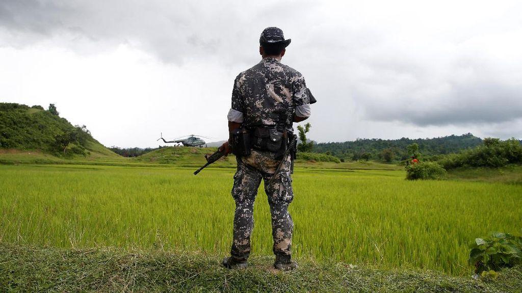 Bunuh Rohingya, 7 Tentara Myanmar Dihukum 10 Tahun Kerja Paksa