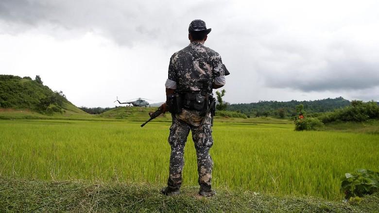 Konvoi Truk Militer Myanmar Kena Ledakan Ranjau di Rakhine