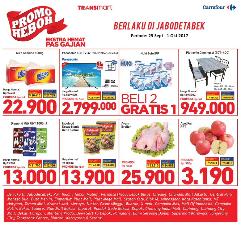 Sudah Gajian? Ada Promo Belanja Hemat di Transmart dan Carrefour