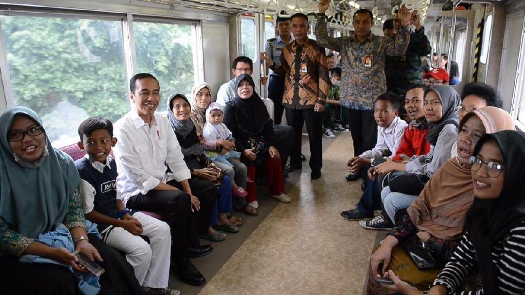 Dari Commuter Line Jokowi Ucapkan Selamat Ulang Tahun PT. KAI