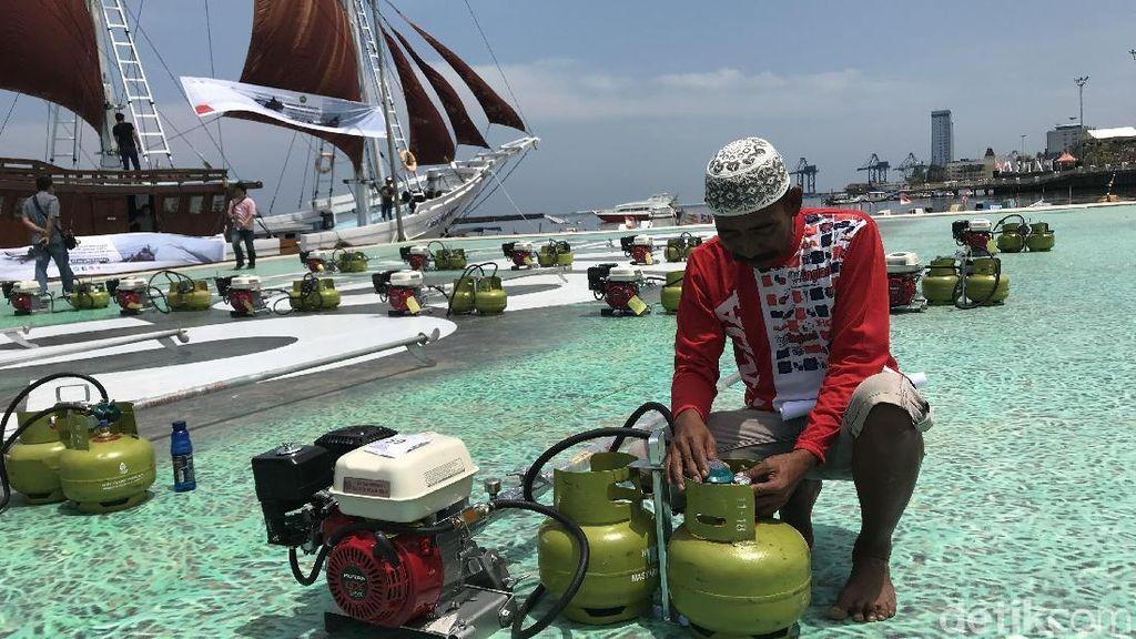 Cerita Nelayan Makassar Hemat Biaya Operasional Pakai BBG