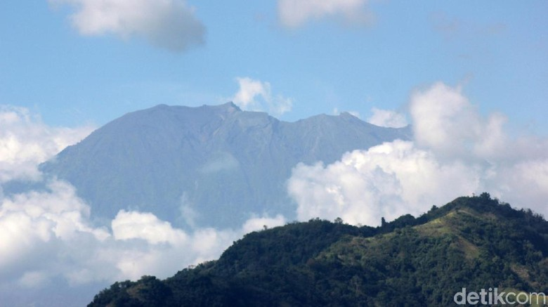Ilustrasi Gunung Agung (David Saut/detiktravel)