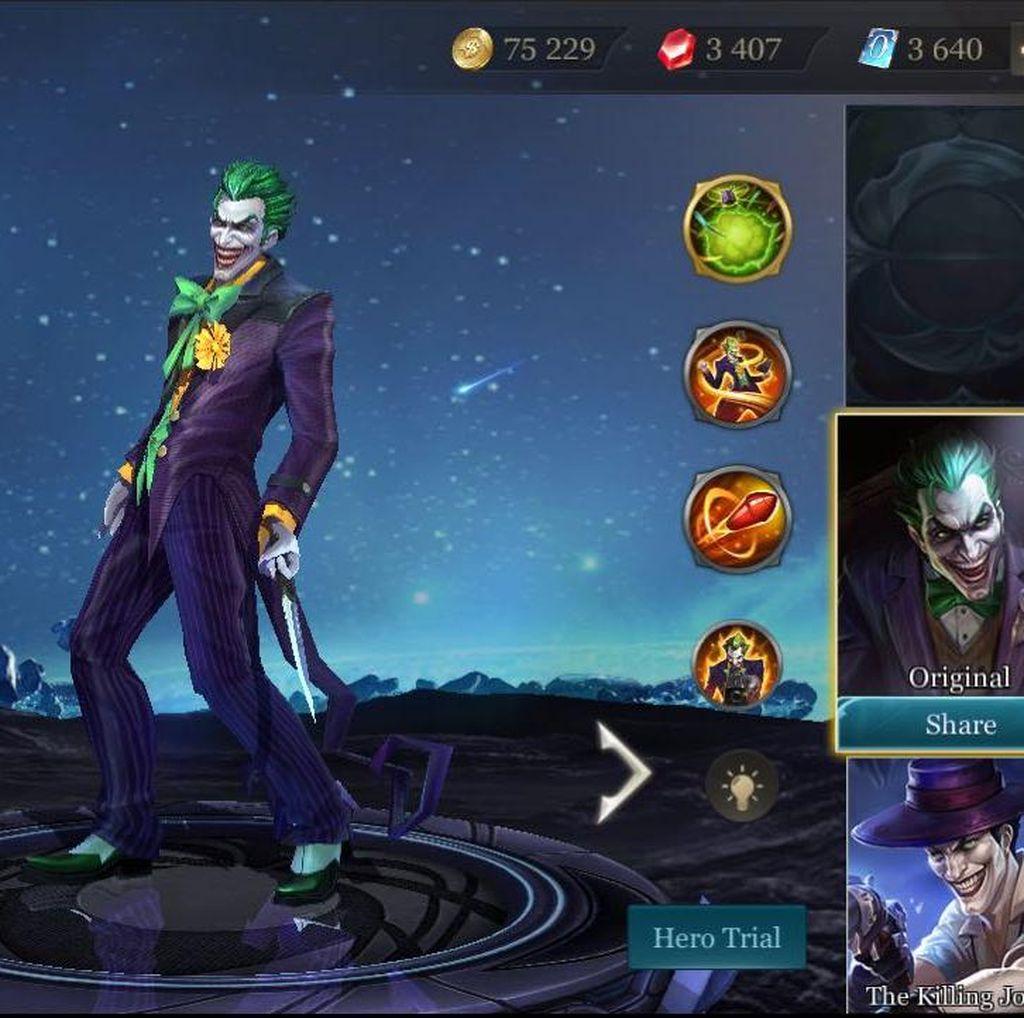 Joker di Game Arena of Valor Bisa Didapat Gratis, Asal..