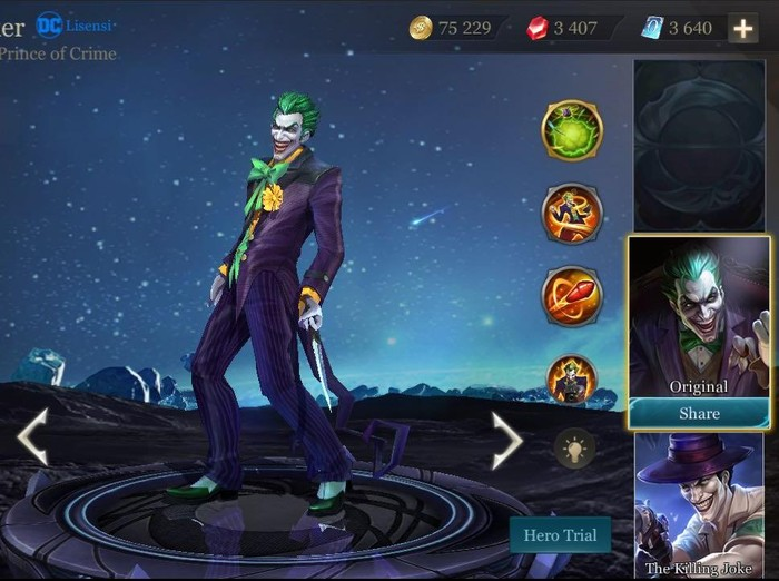 The Joker di game Arena of Valor. Foto: Garena