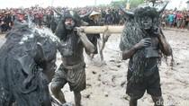Ritual Adat Kebo-keboan di Banyuwangi Dibanjiri Penonton