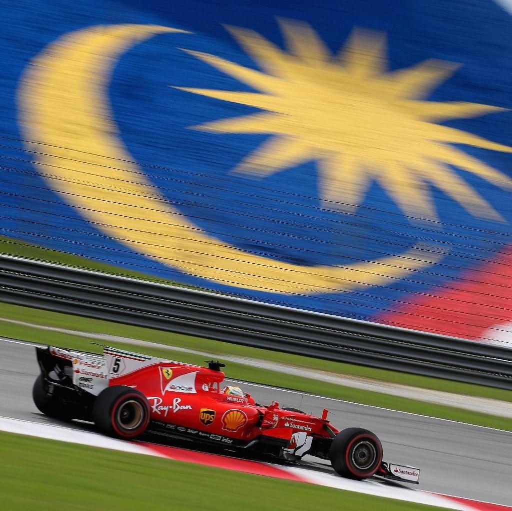 Start Paling Belakang, Vettel Optimistis Finis di Barisan Depan