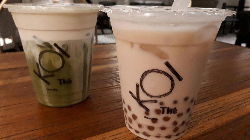 Enaknya Minum Milk Tea dengan Bubble Keemasan dan Macchiato