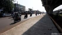 Pedestrian di Kolong Jembatan Tol Becakayu Mulai Terlihat