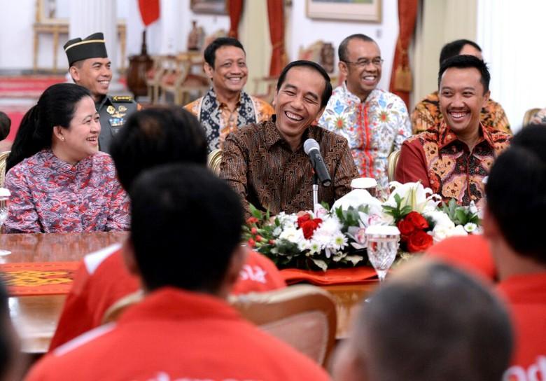 Suasana Ceria Saat Jokowi Sambut Atlet ASEAN Para Games 2017