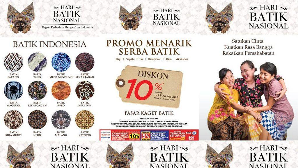 Pasar Kaget Batik di Transmart Carrefour Ramaikan Hari Batik