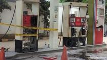 Dispensernya Terbakar, SPBU di Kalimalang Tak Beroperasi