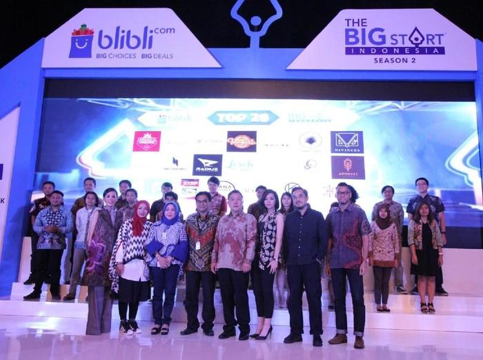 20 Finalis The Big Start Indonesia 2017. Foto: blibli