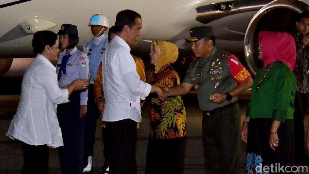 Tiba di Kaltara, Jokowi Disambut Gubernur dan Pangdam Mulawarman