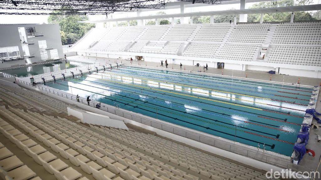 Stadion Akuatik GBK: Atap Ilusi Gelombang Air, Tak Masalah Perlombaan Malam